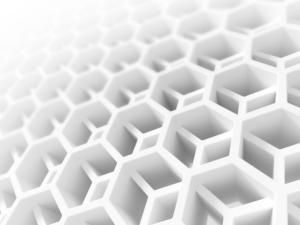 3D-Beispielobjekt in Wabenform