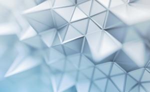 3D-Objekt aus Keramik mit Polygonstruktur